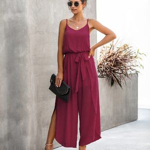 NEW EMPIRE WAIST SPAGHETTI STRAP JUMPSUIT PANTS